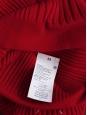 Pull col roulé en laine côtelée rouge vif Prix boutique 690€ Taille XS