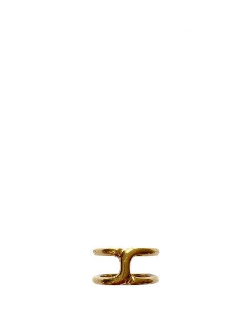 Golden brass thin ring Size 54