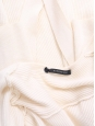 Belted cream white ribbed wool long cardigan Retail price €380 Size XS
