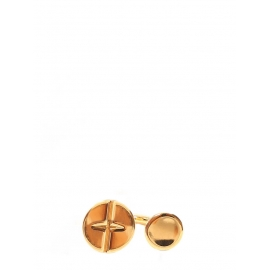 Bague ronds DARCEY en laiton doré Prix boutique 250€ Taille 52