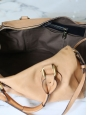 Beige pink leather AURORE duffle bag Retail price $1800