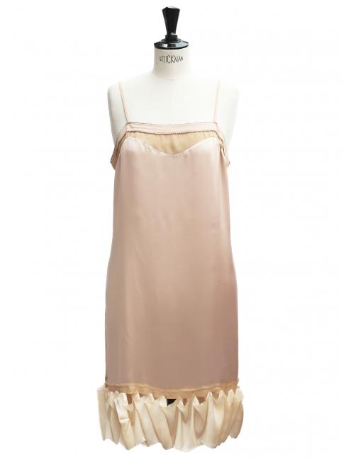 louboutin paquita satin crpe rose christian louboutin With robe en crepe de soie
