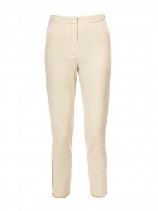 Pantalon jogging crème écru avec zip doré aux chevilles Px boutique 1150€ Taille 34