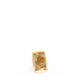 DJILL Gold-tone brass textured ring Retail price €230 Size 52