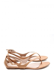 Nude/ beige pink leather flat sandals Retail price 500€ Size 39