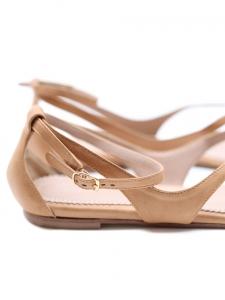 Sandales plates en cuir beige rosé ou nude Px boutique 500€ Taille 39