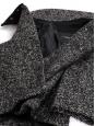 Manteau veste en tweed de laine noir et blanc Prix boutique 2400€ Taille 36