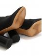 Bottines à talon épais GARETT en suède noir Prix boutique 709€ Taille 38
