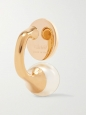 Darcy gold-tone Swarovski pearl earrings for pierced ears Retail price €220