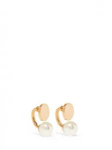 Boucles d'oreille DARCY perle et laiton doré pour oreilles percées Prix boutique 220€