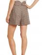 CHLOE Short taille haute en tweed de laine beige khaki et bordeaux Prix boutique 590€ Taille 40