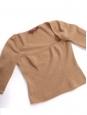 Top manches courtes décolleté carré en cachemire camel Prix boutique 600€ Taille 38