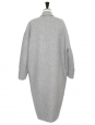 CALES grey cashmere and wool oversized double coat Retail price €1275 Size 34 to 38