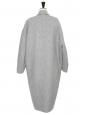 Manteau CALES long oversized en laine et cachemire gris Prix boutique 1275€ Taille 34 à 38
