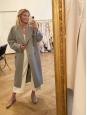 Ballerines plates bout pointu en galuchat gris beige Prix boutique 500€ Taille 37