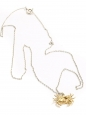 Thin silver chain necklace with gold crabe pendant in vermeil Retail price €210