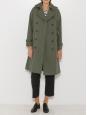 Manteau trench en coton beige camel et boutons écaille Px boutique 450€ Taille 36