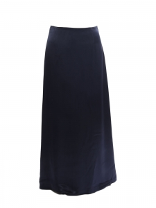 Donnelly navy blue satin maxi skirt Retail price $240 Size 38