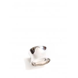 Bracelet manchette en argent rhodié Prix boutique 195€