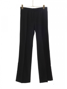 Fluid straight leg black wool pants Retail price €550 Size 36
