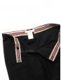 Fluid straight leg black wool pants Retail price €550 Size 36