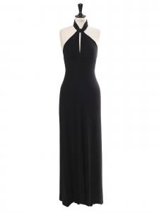 Robe longue près du corps et dos nu plongeant noir Prix boutique 900€ Taille 36