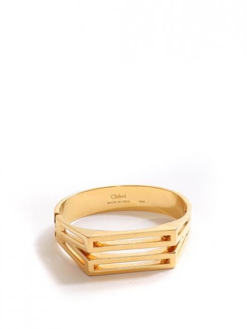 BIANCA Thin gold brass cuff bracelet Retail price €390 Size S/M