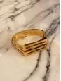 BIANCA Thin golden brass cuff bracelet Retail price €390 Size S/M