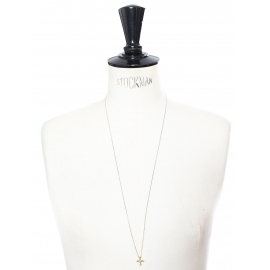 LITTLE CROSS Gold vermeil pendant necklace with silver chain Retail price €80