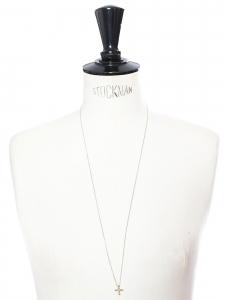 LITTLE CROSS Collier sautoir chaîne fine en argent et pendentif croix vermeil doré Prix boutique 80€
