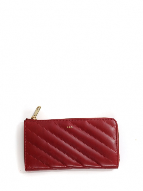 Lise burgundy red and gold zip around long wallet NEW Retail price €250