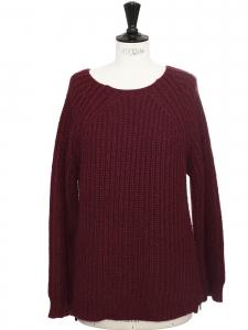 Pull col rond en grosse maille d'alpaga et laine mélangée zip côté Prix boutique 350€ Taille S