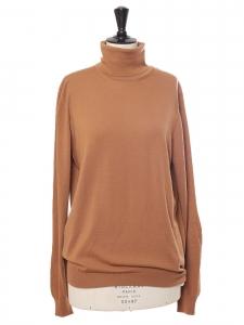 Pull col roulé en laine marron camel Prix boutique 450€ Taille M/L