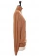 Camel brown merinos wool turtleneck sweater Retail price €450 SIze M/L