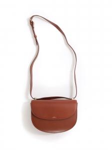 Sac à bandoulière GENEVE en cuir marron camel NEUF Prix boutique 455€
