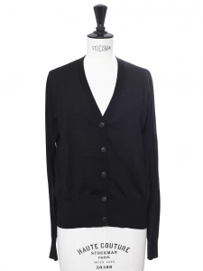 Gilet col V en laine noire Taille 34