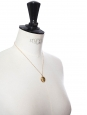 Gold plated pendant necklace with gold chain