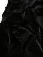 Robe col rond manches longues droite en velours noir Taille 38