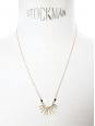 CROWN Gold pendant necklace with gold thin chain Retail price €140