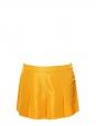 Saffron yellow taffeta pleated mini skirt Retail price €400 Size 38