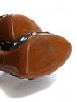 Sandales à talon en raffia et tissu à pois noir et blanc Prix boutique 695€ Taille 37