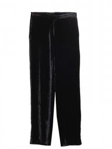 Pantalon droit en velours moiré noir Prix boutique 200€ Taille 34/36