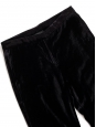 Black velvet straight leg pants Retail price €200 Size 34/36