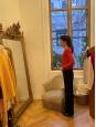 Black velvet straight leg pants Retail price €200 Size 36
