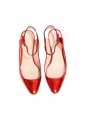 Red metallic leather babies flats Retail price €550 Size 36