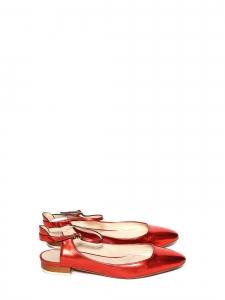 Ballerines babies plates en cuir métallisé rouge Prix boutique 550€ Size 36