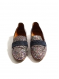 EPONYME Flat navy suede and multi color glitter loafers Retail price €180 Size 39