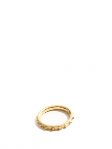 Thin gold plated studded ring Retail price €70
