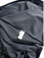Dark blue stretch velvet open back, long sleeves skater dress Size XS