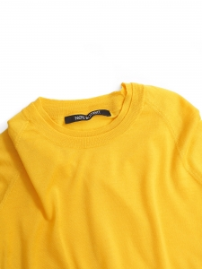 Sunflower yellow wool, silk and cashmere sweater RRP €390 Size 36